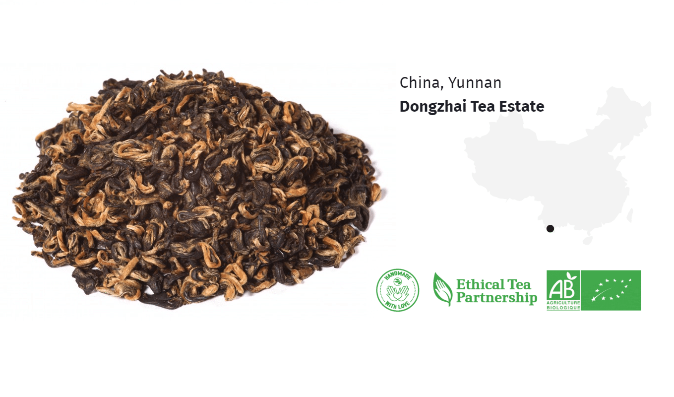 Thé Oolong Bio Thé Golden Beauty Pearls Huang Di de Chine