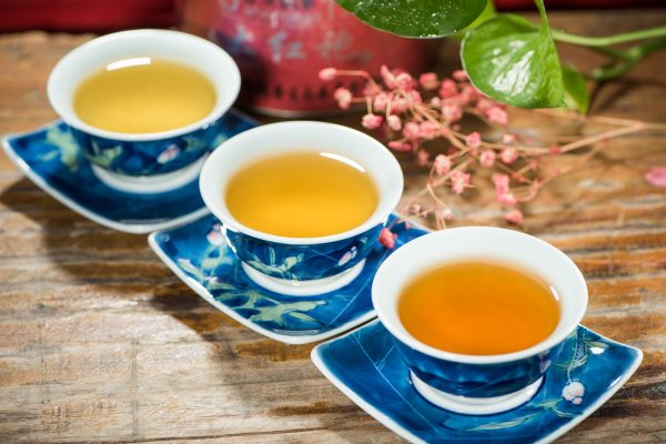 thé noir tasses