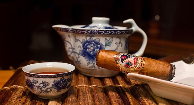 Tea and cigar